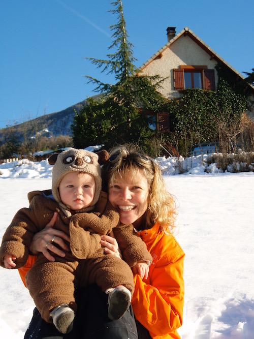 vacances avec bébé montagne ski